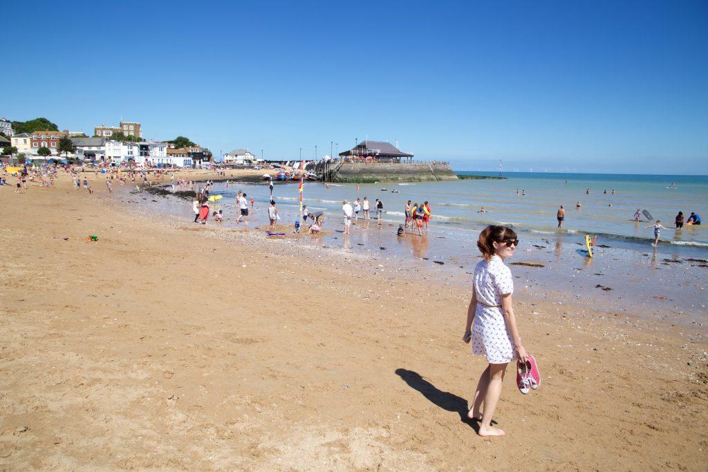 amanda on beach