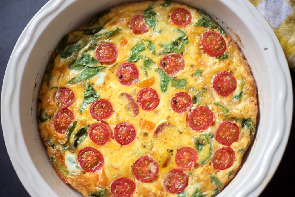 chorizo frittata close up