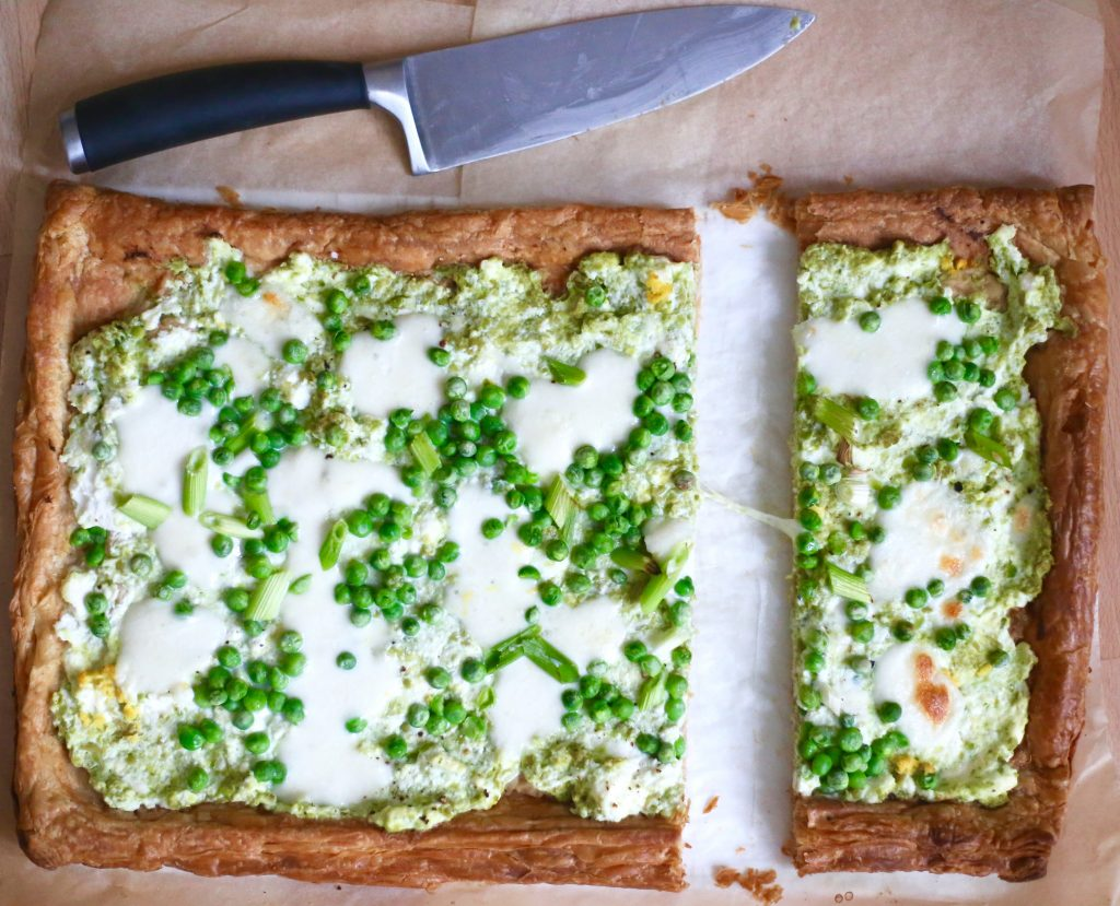 pea and ricotta tart