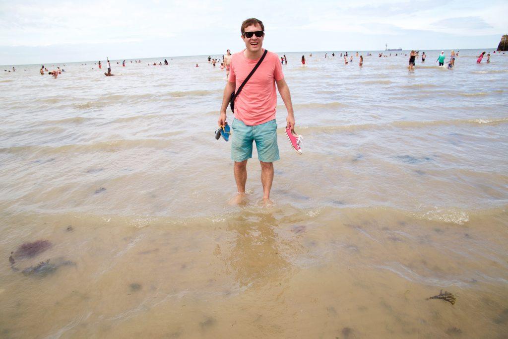 seaside sam in water