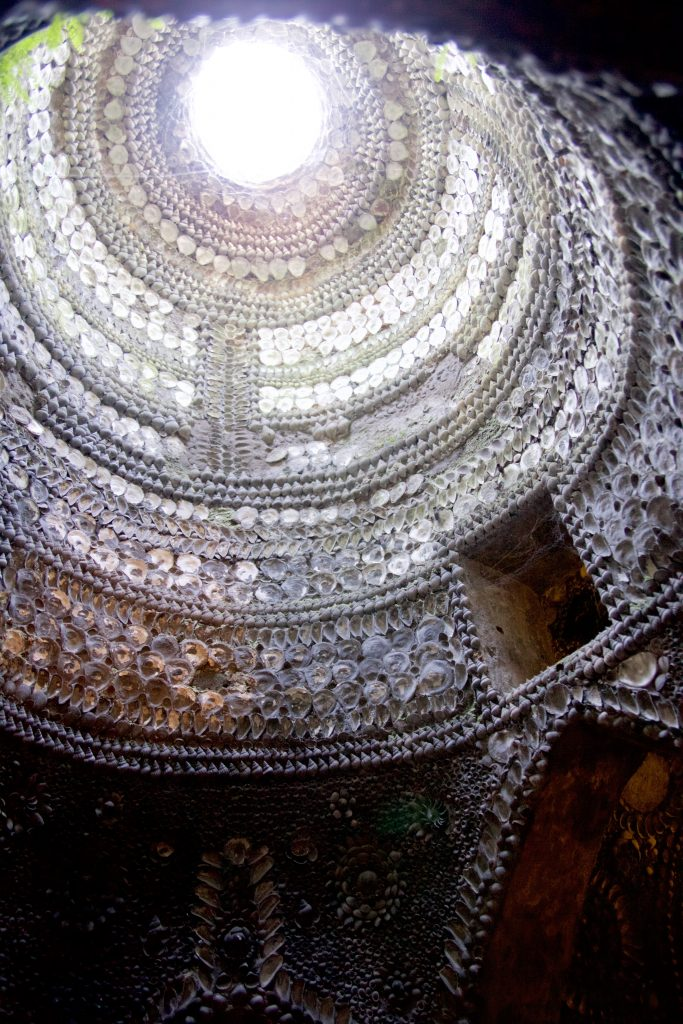 shell grotto celing
