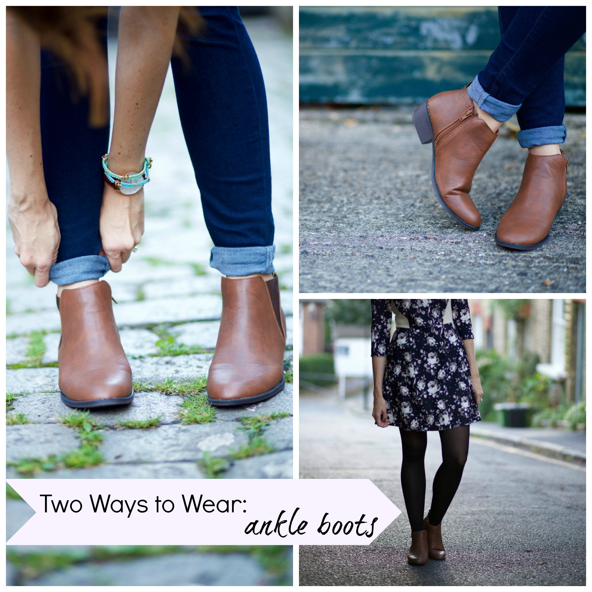 Style How To Wear Ankle Boots Two Ways Rhyme Amp Ribbons