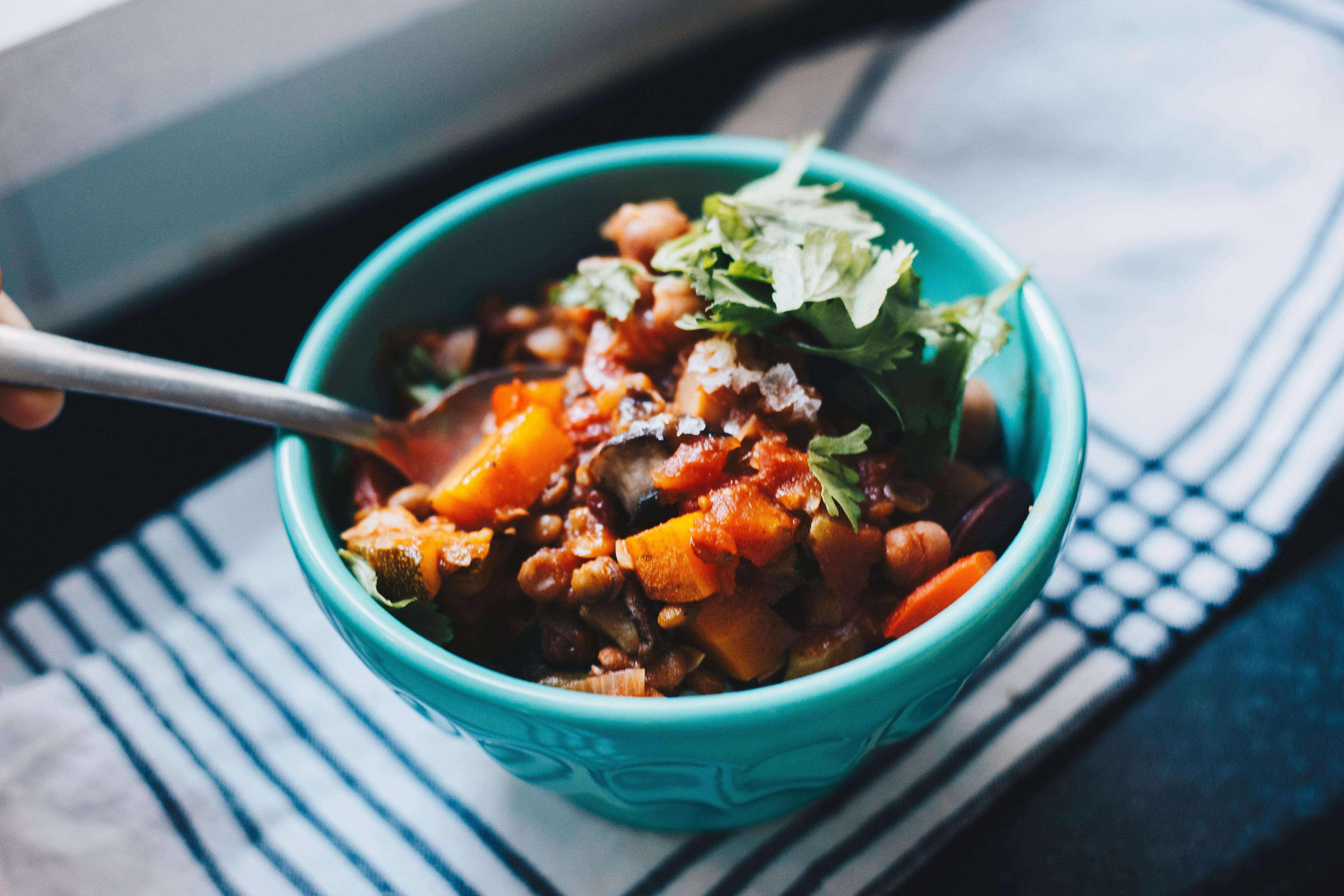 bowl of spicy ratatouille