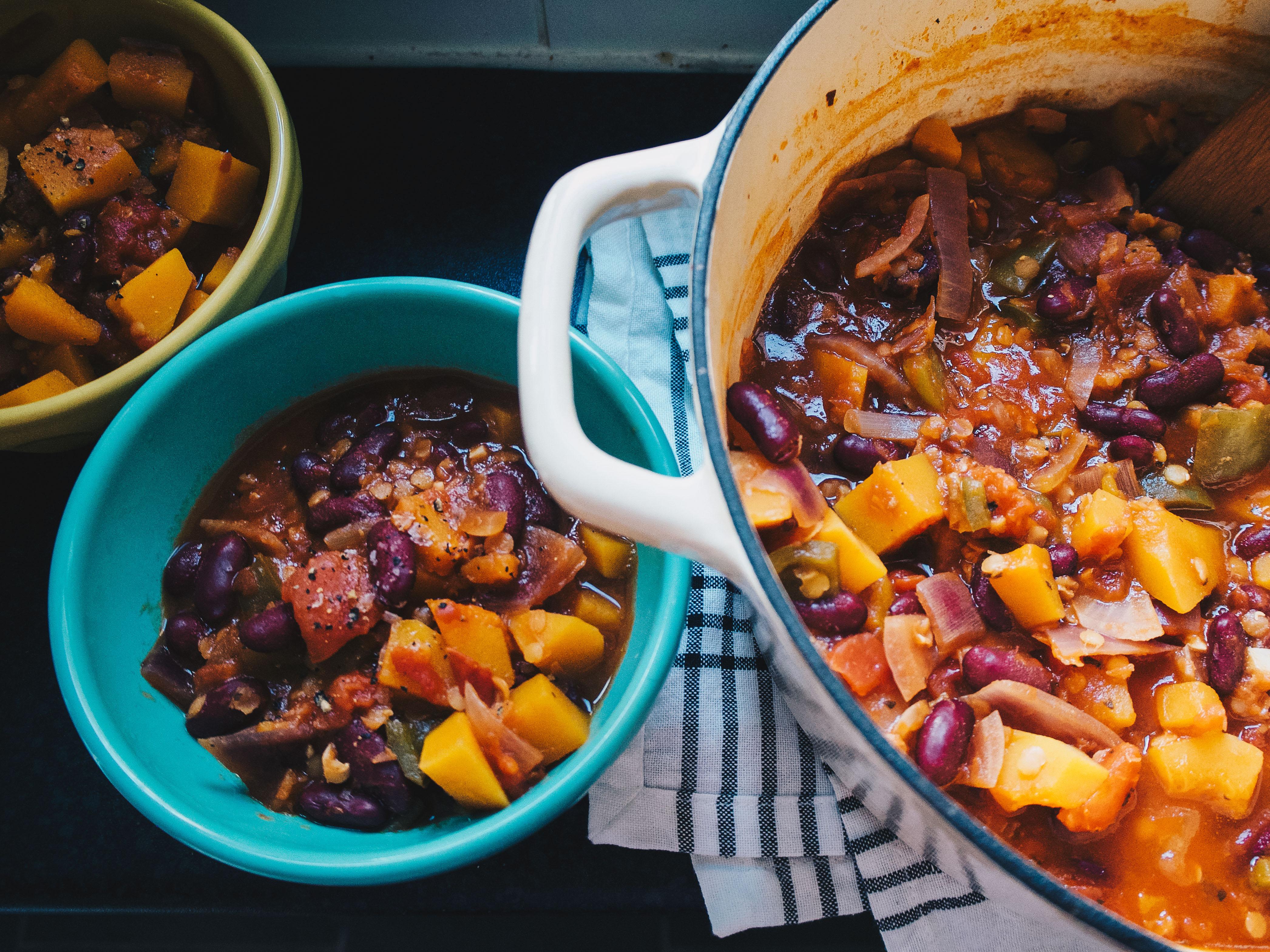 Butternut Squash and Kidney Bean Stew