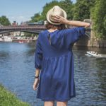 "Outfitting || Blue Swing Dress and Why I'll Never Wear a ""Proper"" Bra Again"
