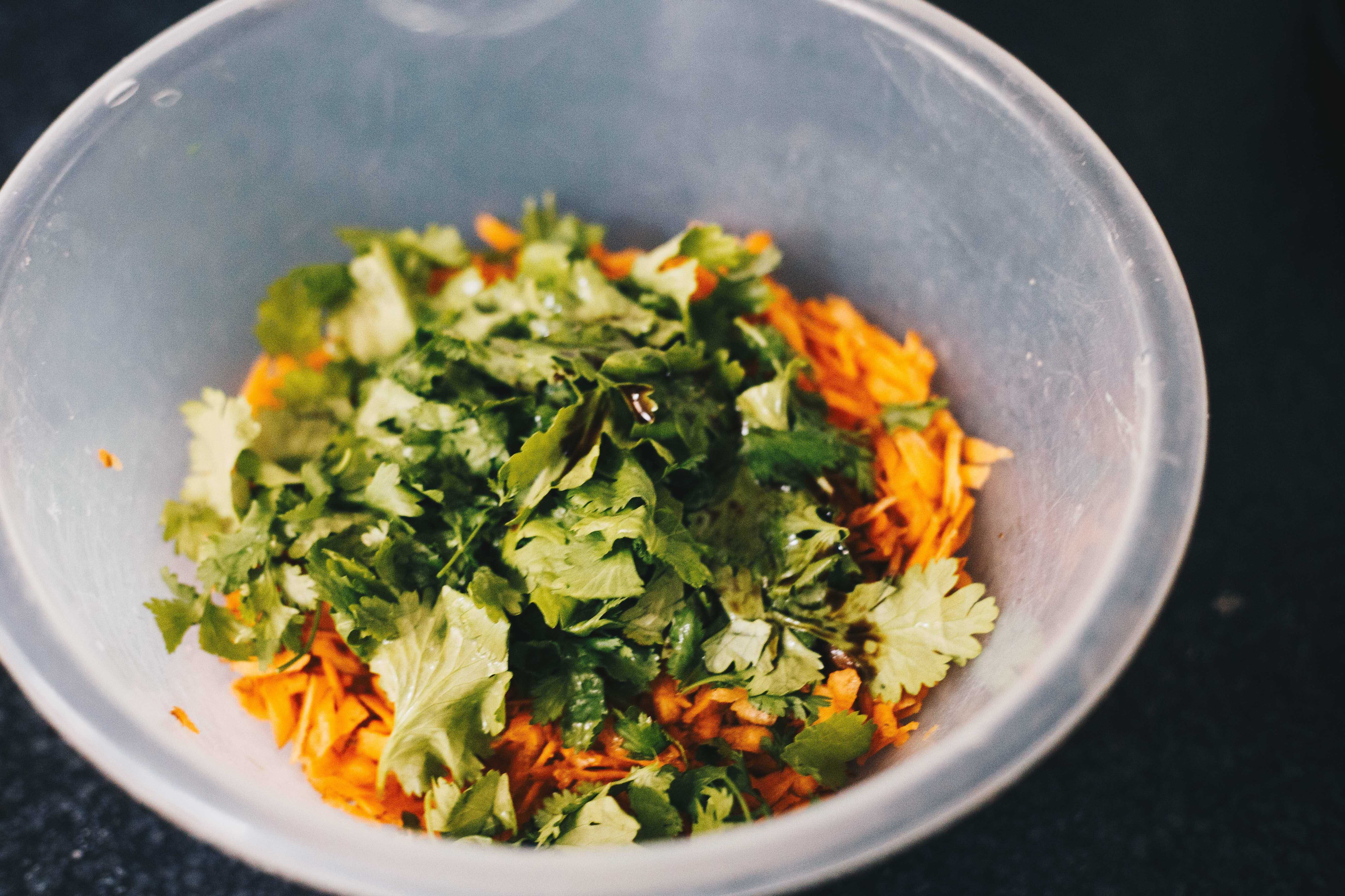 untossed carrot salad