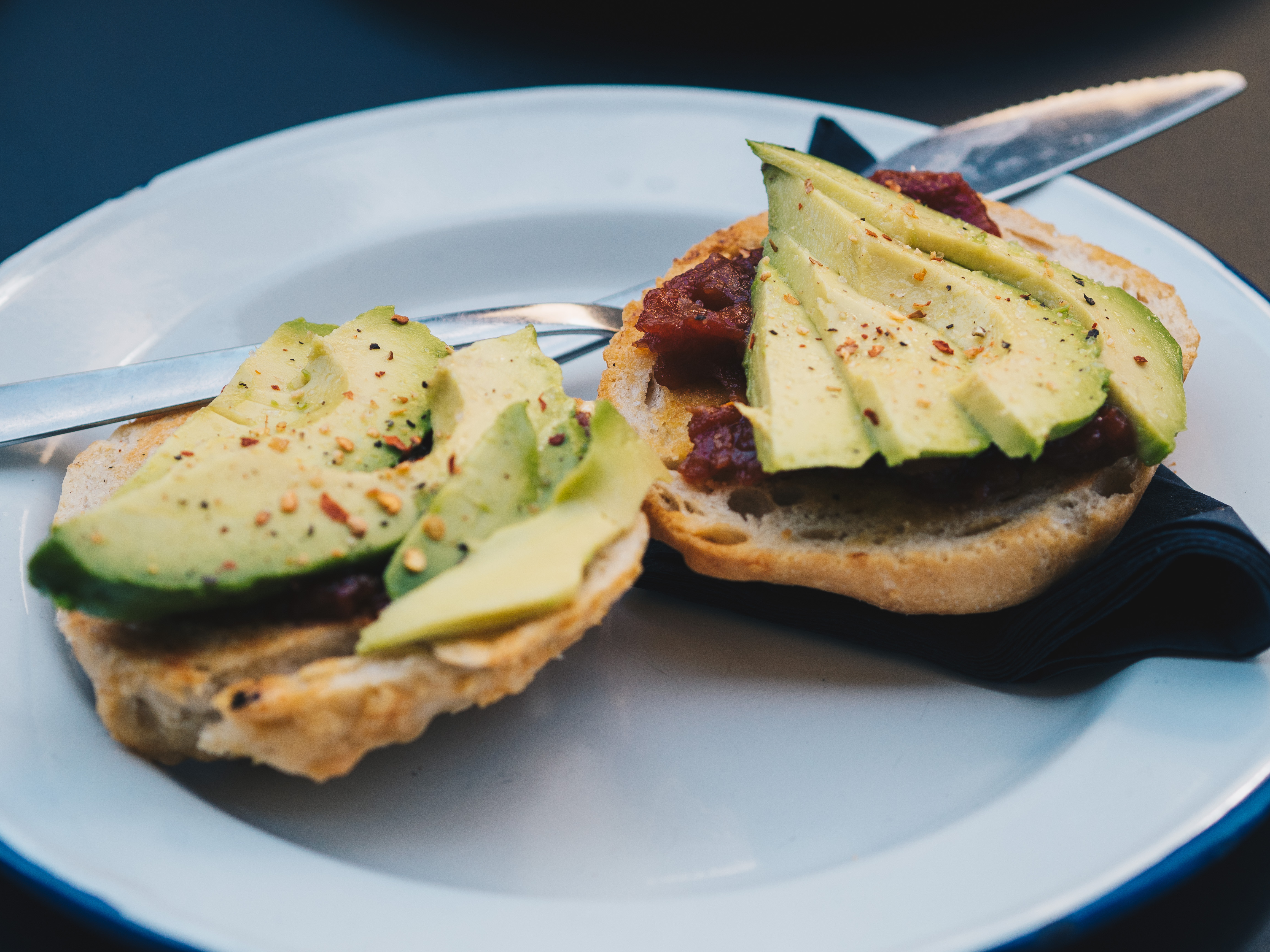 avocado toast and chilli jam