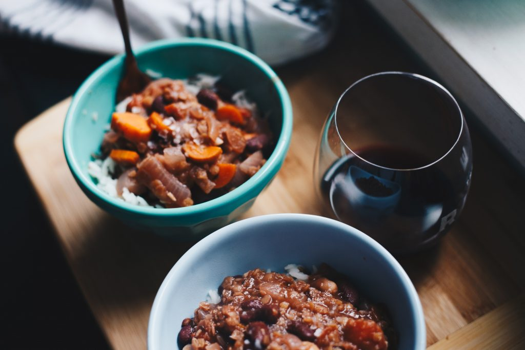 beans in red wine