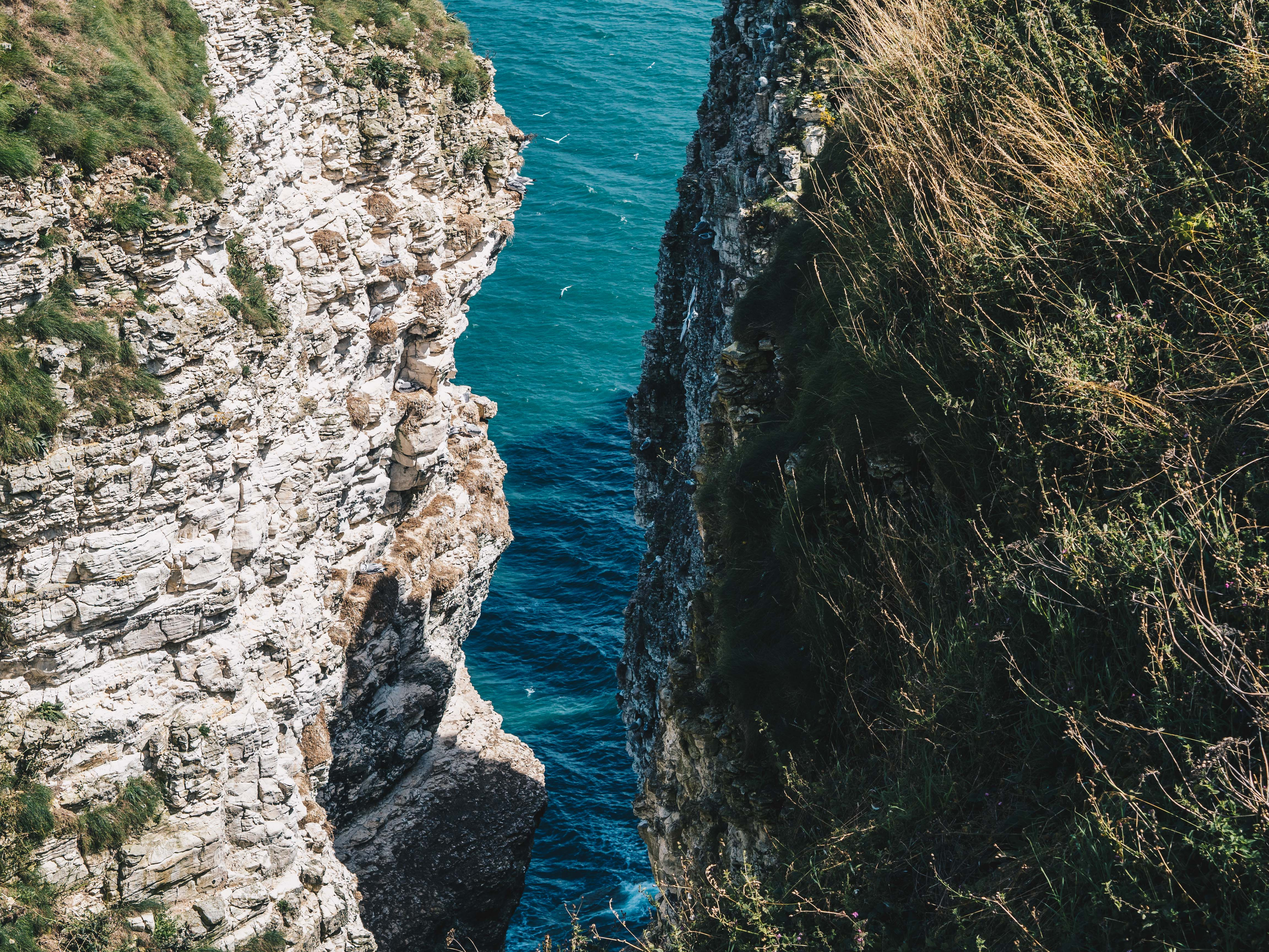 narrow cliff opening