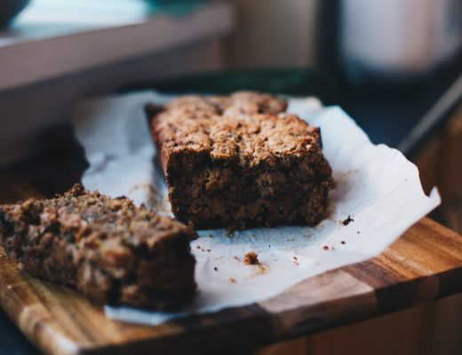 sliced vegan zucchini bread
