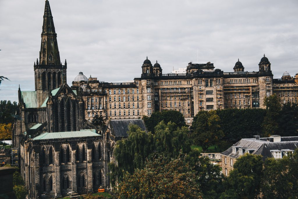Glasgow Necropolis and cathedral