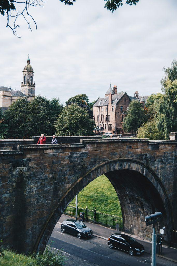 bridge to Glasgow Necropolis