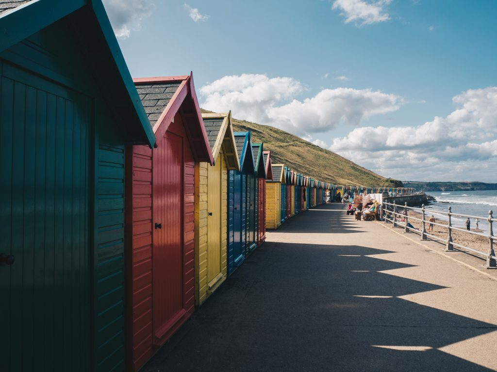 colourful whitby huts