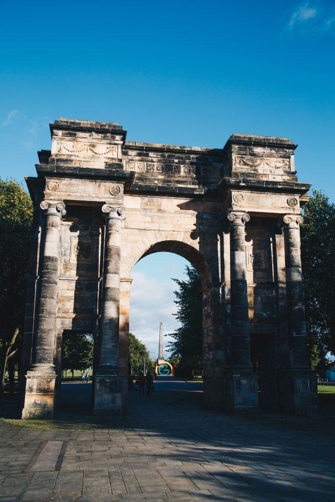 gate in glasgow green