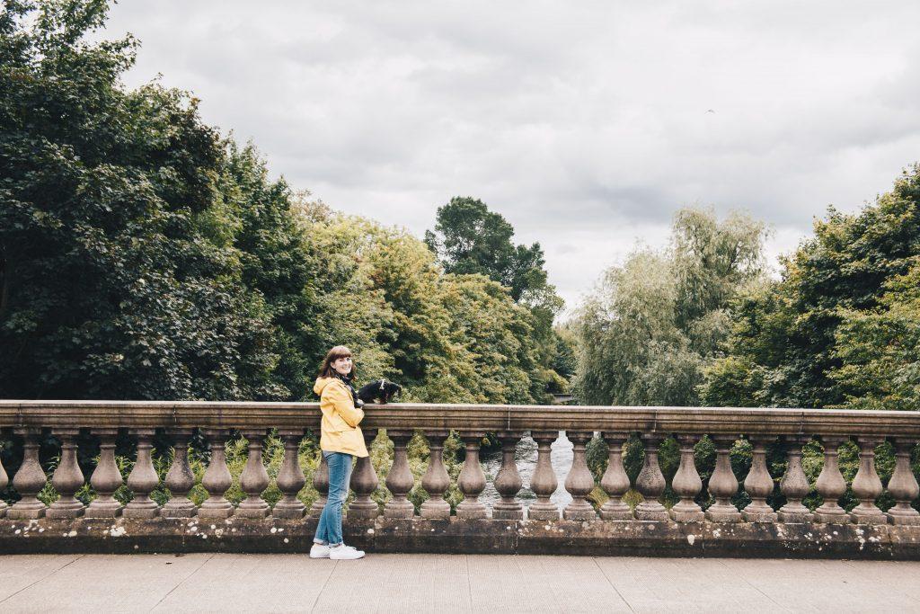 me on bridge in kelvingrove park