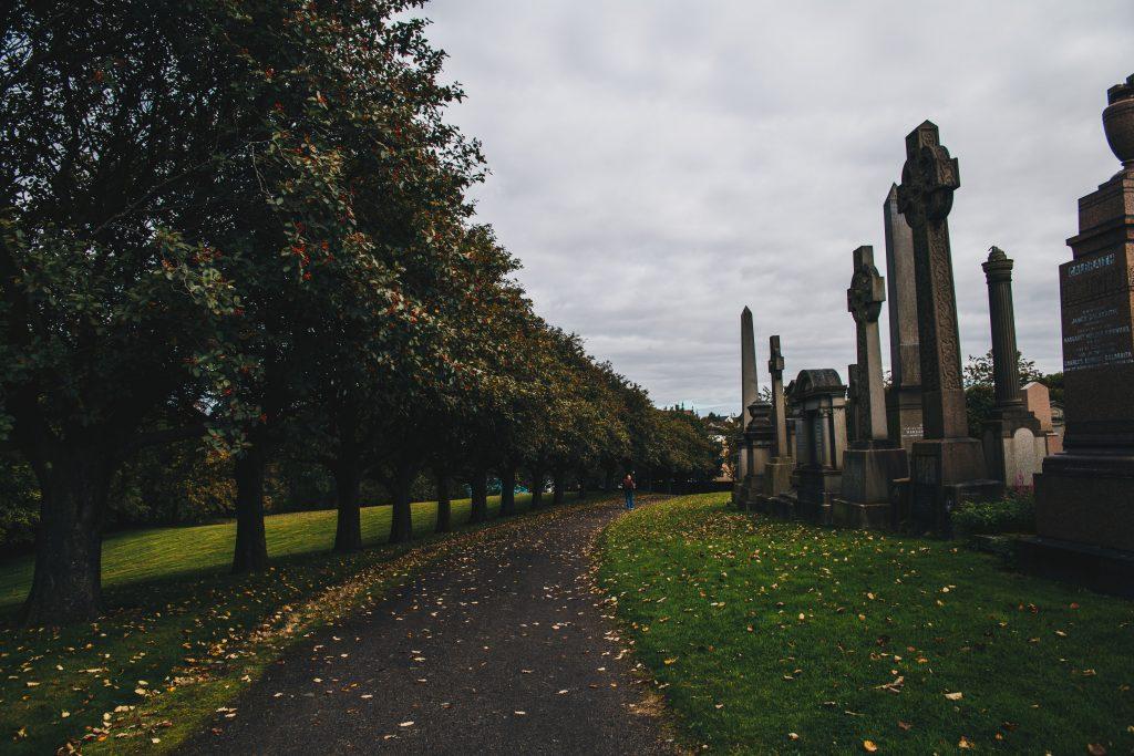 path in the Glasgow Necropolis