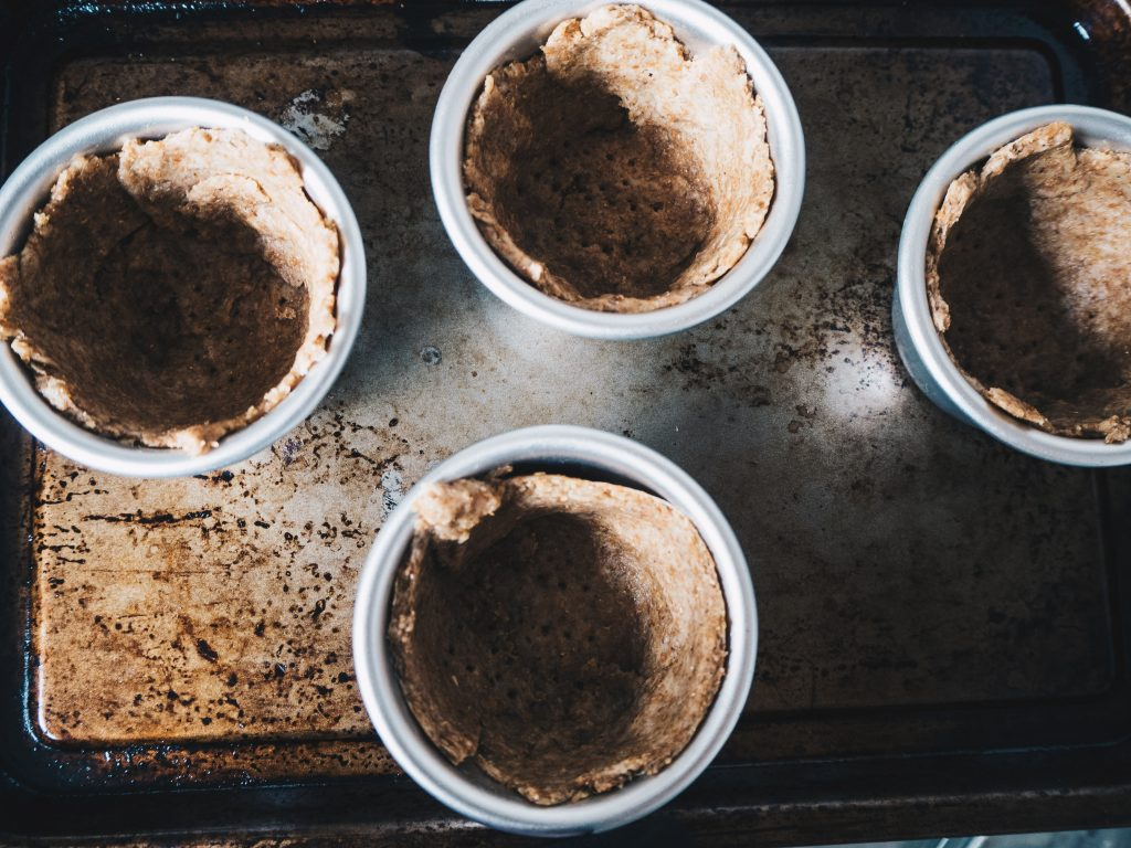 pie pans and crust
