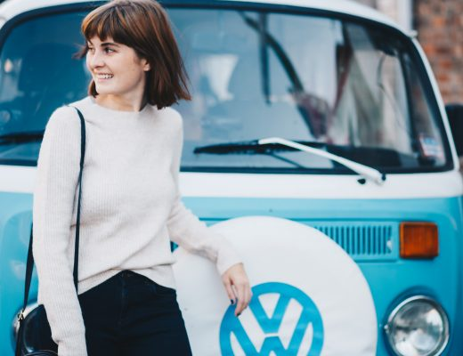 VW van and jumper outfit