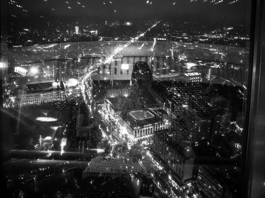 black and white view of berlin