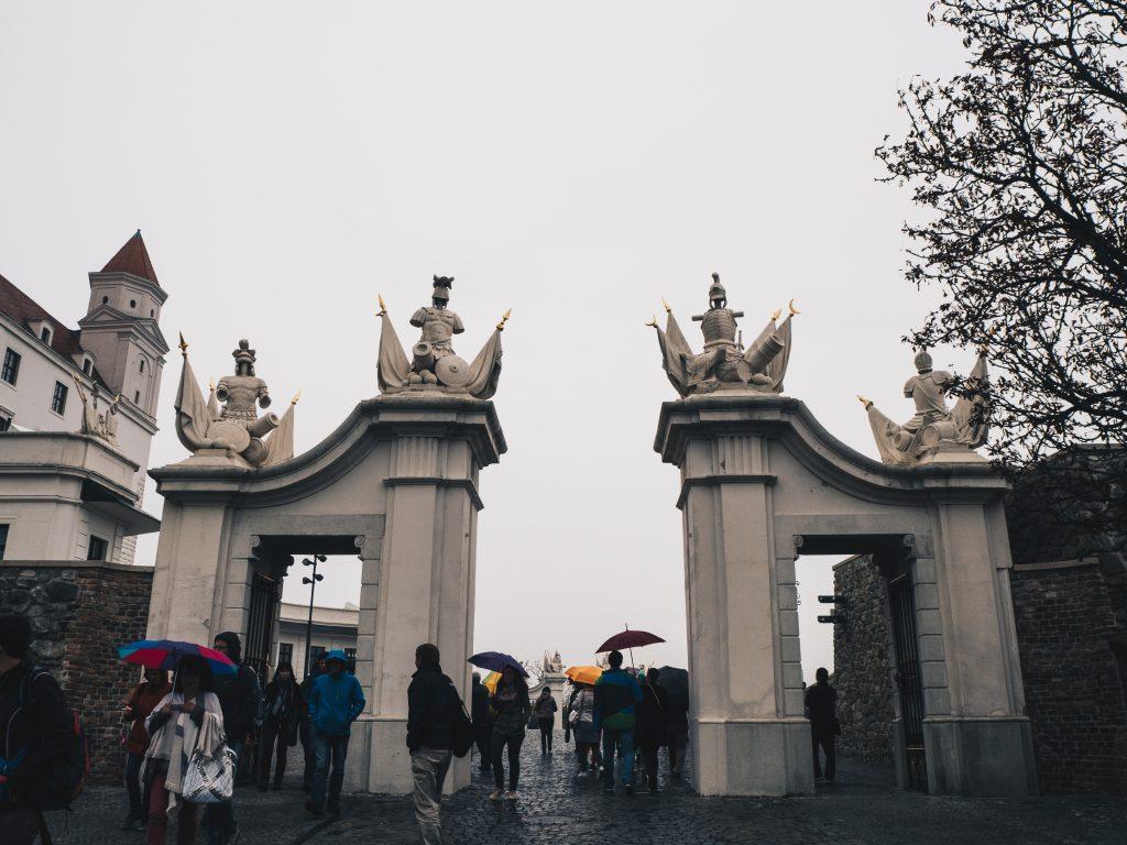 gates to Bratislava Castle