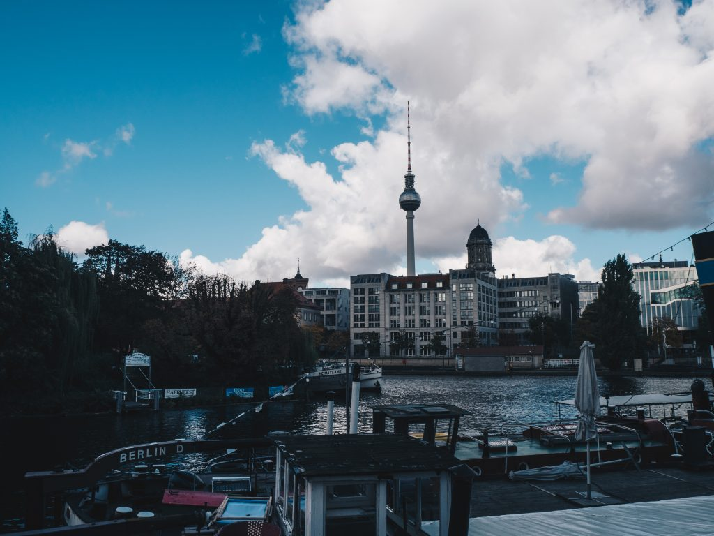 tv tower from the other side of the river