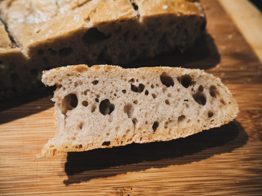 crumb of sourdough bread