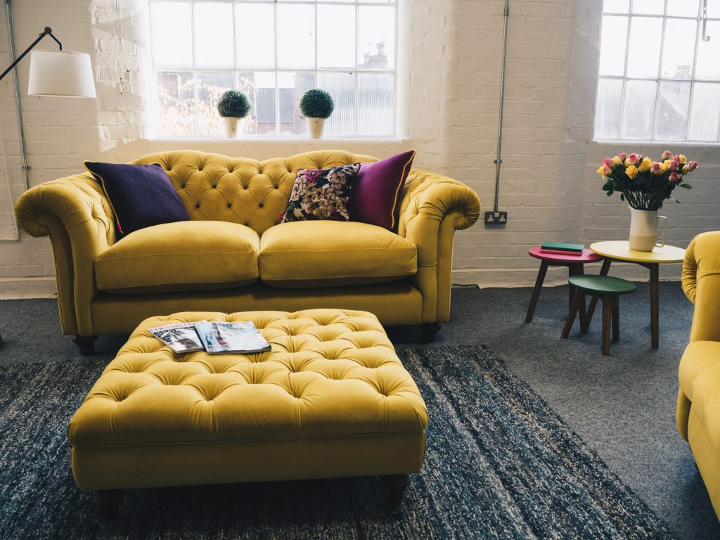 dfs joules yellow sofa