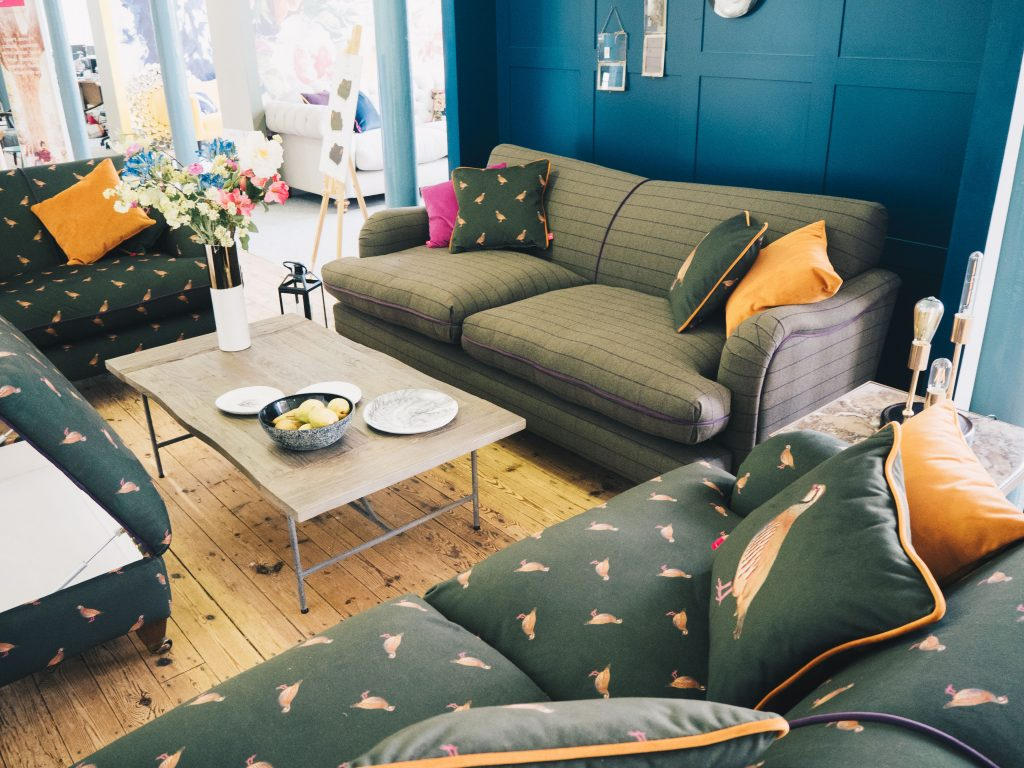 joules dfs green sofa