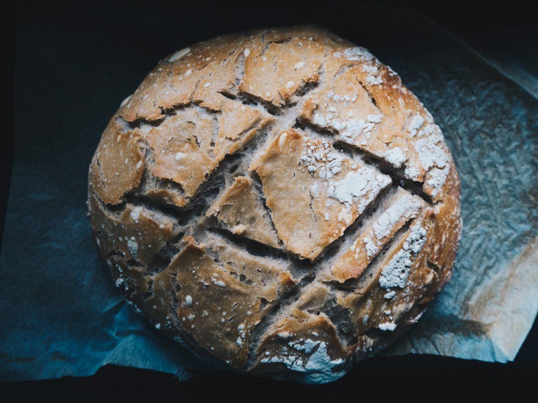 top shot of sourdough bread