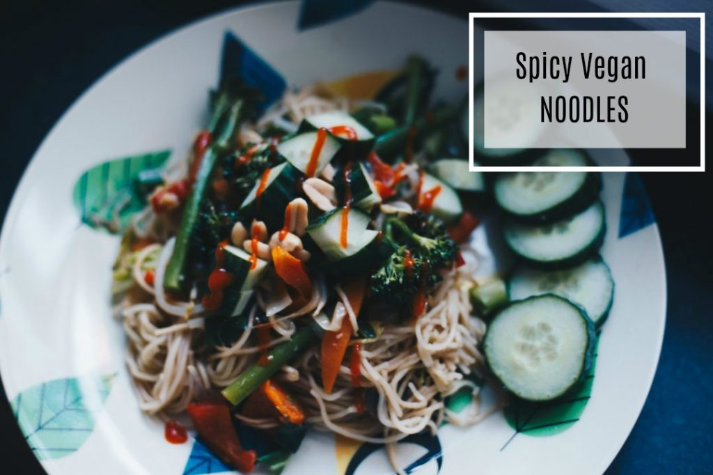 spicy vegan noodles