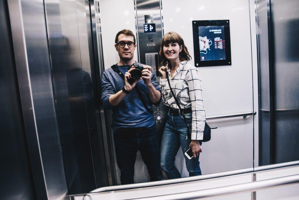 in lift at ibis blackfriars
