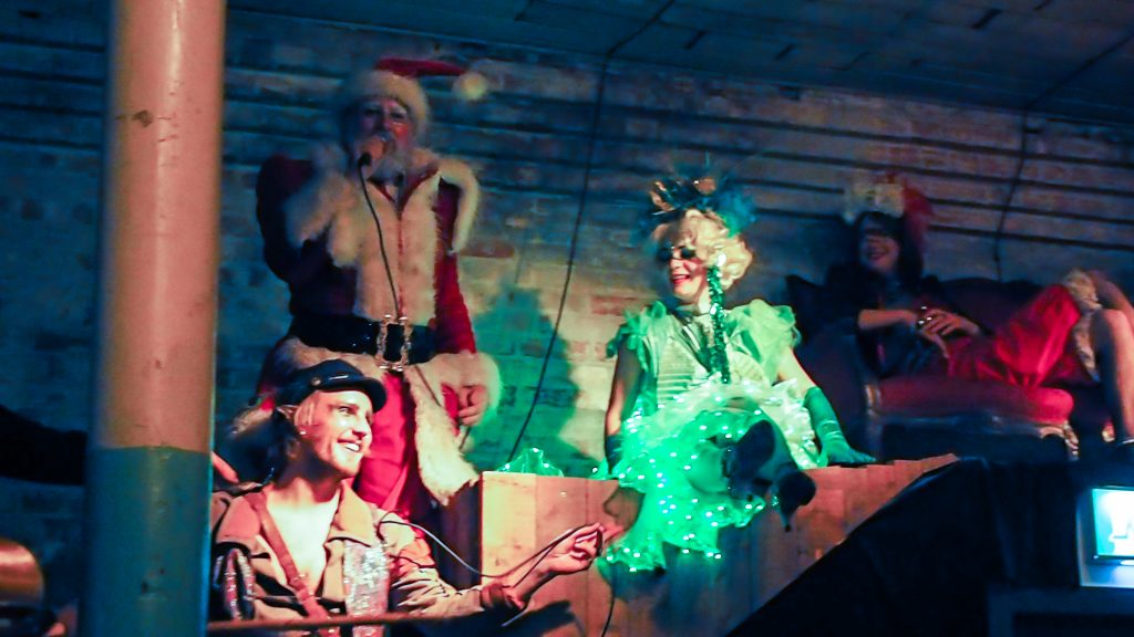 jingle bells, santa and the green fairy