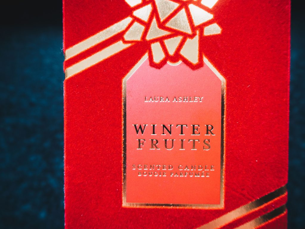 winter fruits candle