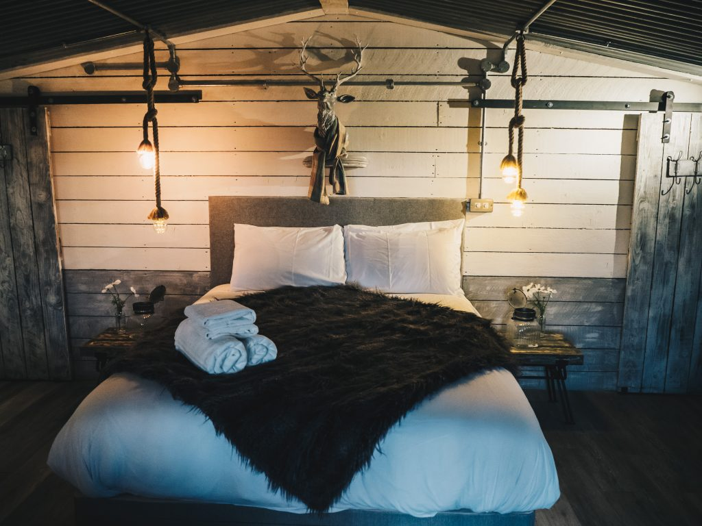 bedroom in smaller cabin