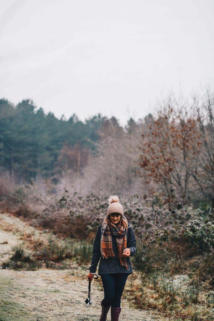 me walking in wood