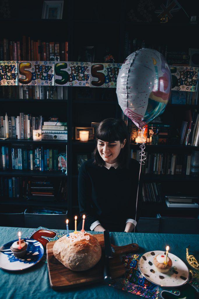 birthday bread and balloon